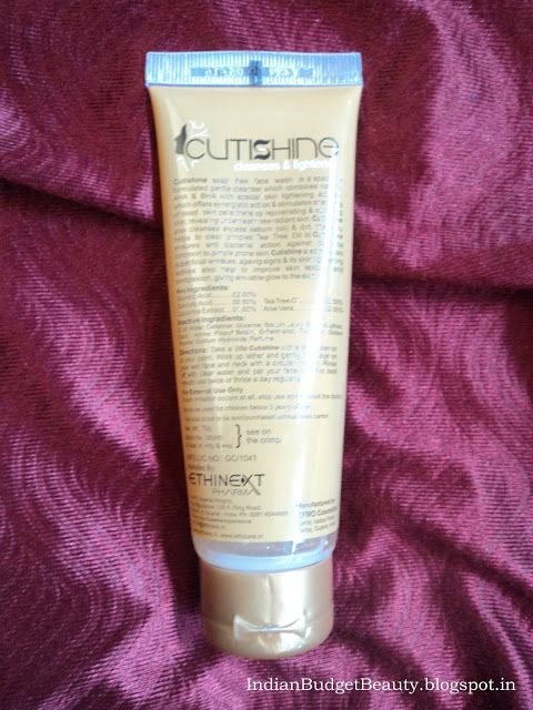 cutishine face wash review