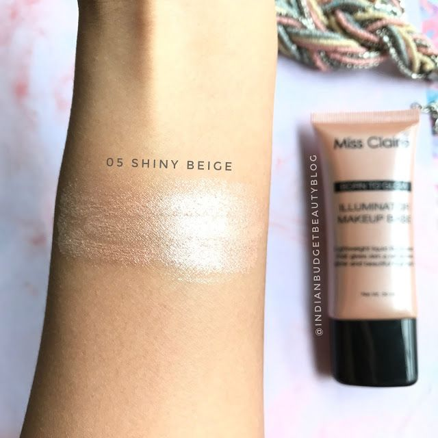 Miss Claire Born To Glow Illuminator Makeup Base swatches