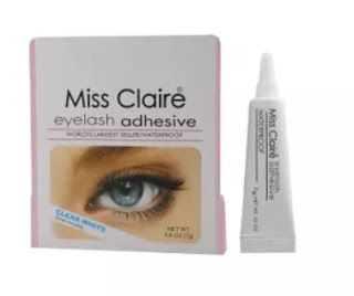miss claire eyelash glue review