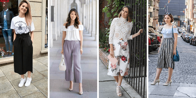 Outfit Ideas for styling Cullotes