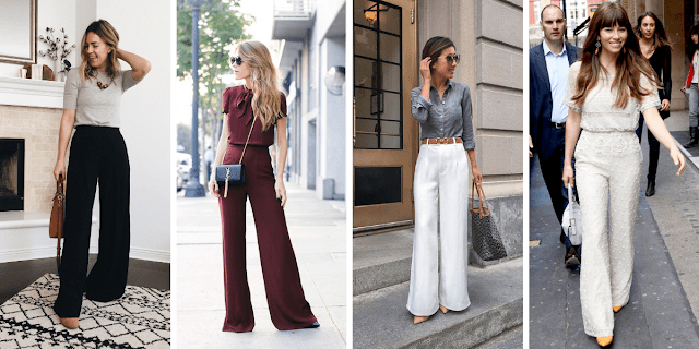 outfit ideas for wide leg pants