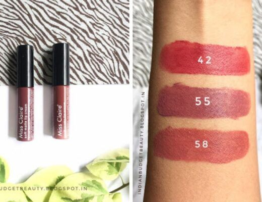miss claire soft matte lip cream review