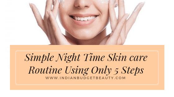 simple night skin care routine