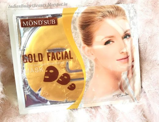 MOND'SUB Gold Brightening, Moisturizing, & Antiwrinkle Face Mask REVIEW