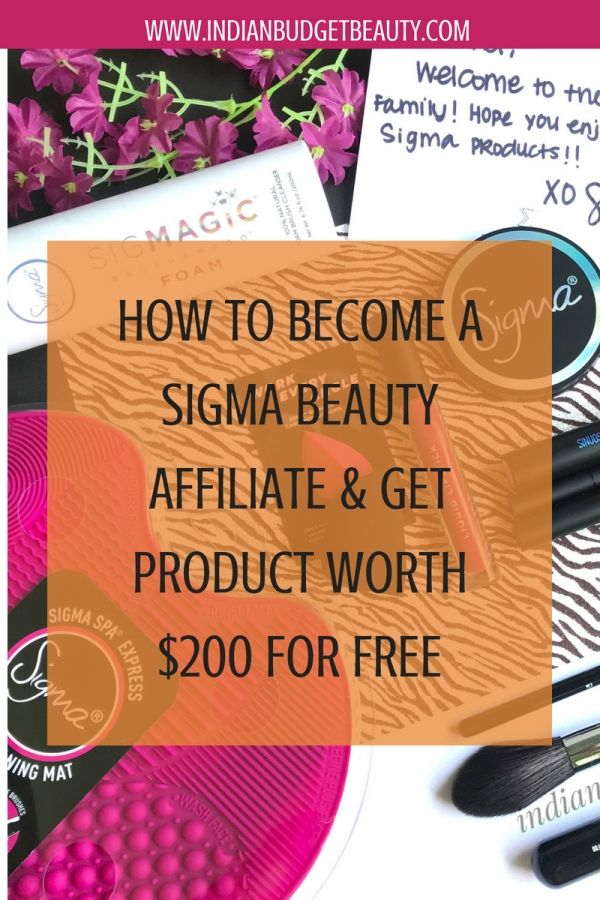 how to join sigma beauty affiliate program
