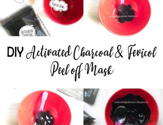 diy activated charcoal peel off mask
