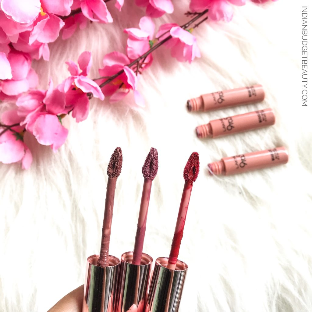 lakme lip and cheek color review coffee lite rose touch crimson silk review swatches 2