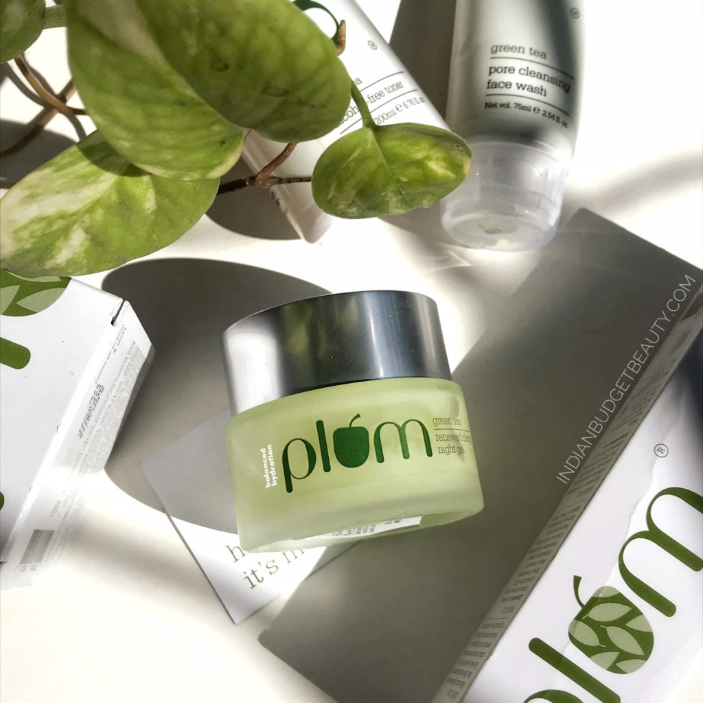 plum green tea renewed clarity night gel review