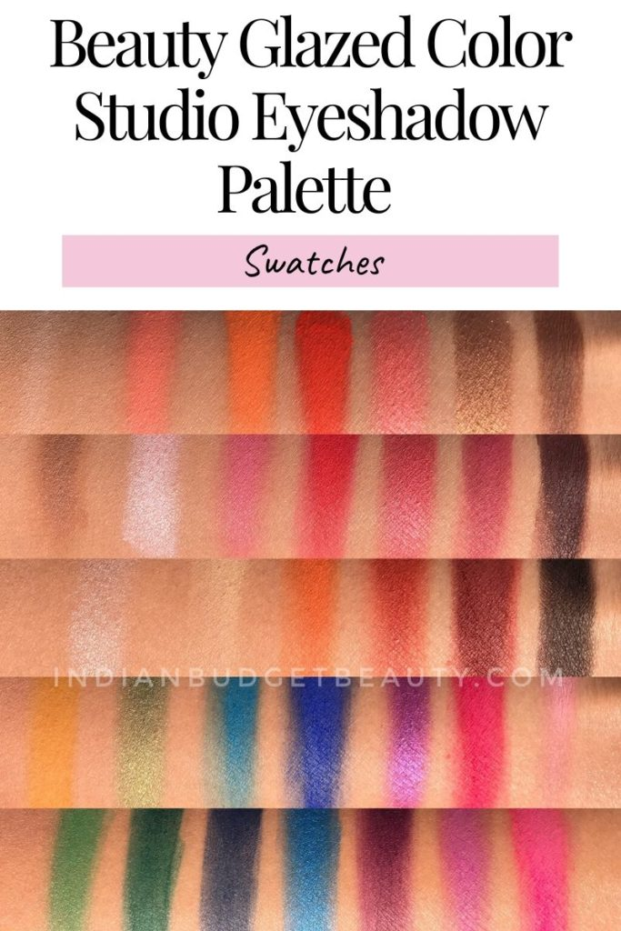 Beauty Glazed Color Studio Eyeshadow Palette swatches