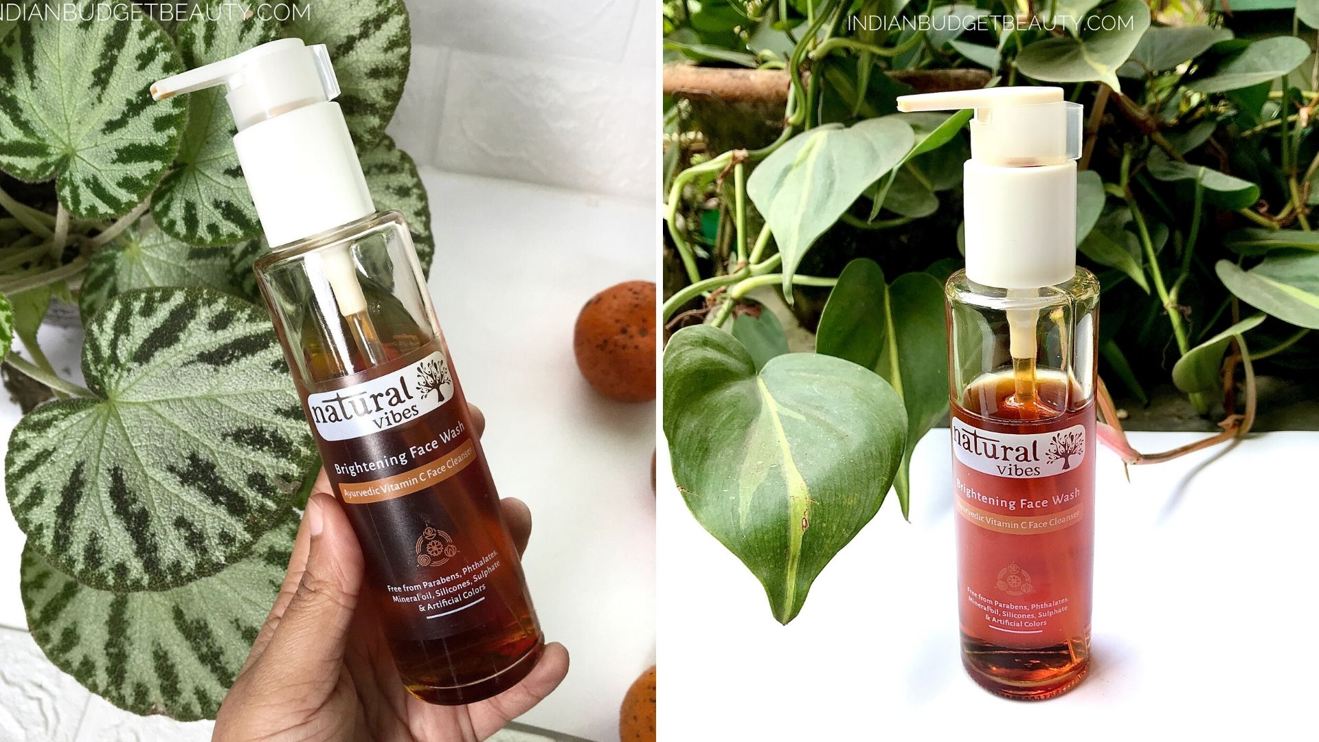 NATURAL VIBES VITAMIN C BRIGHTENING FACE WASH REVIEW