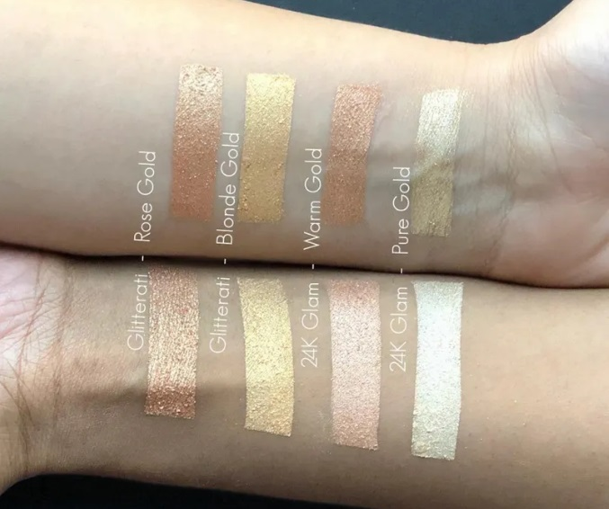 Nykaa Glow Getter Highlighting Illuminating Duo Palette swatches 2