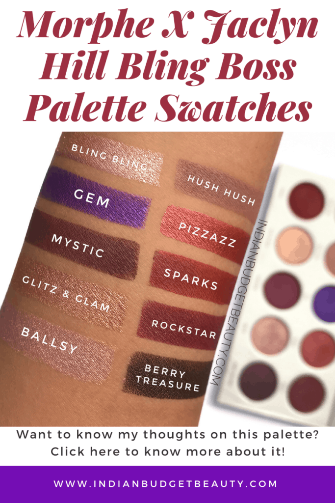 Morphe X Jaclyn Hill Bling Boss Palette Swatches & Review