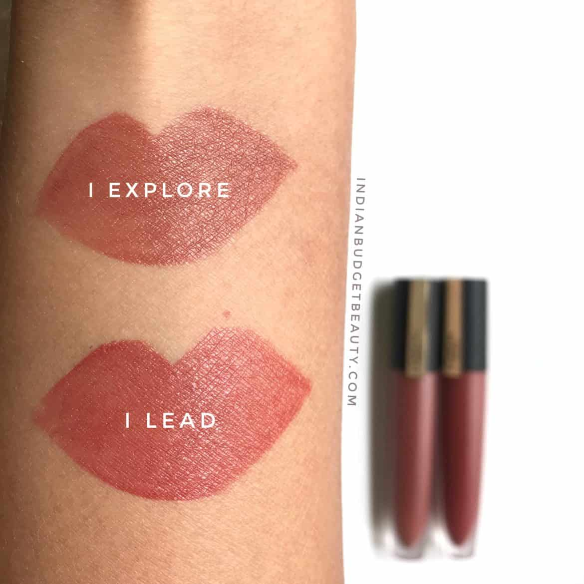 l'oreal rouge signature swatches