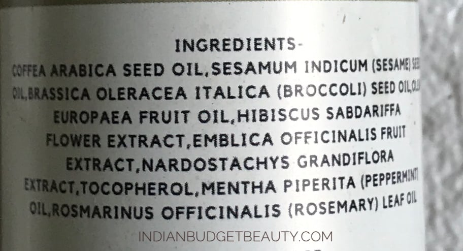 skinish arabica coffee hair oil review ingredients