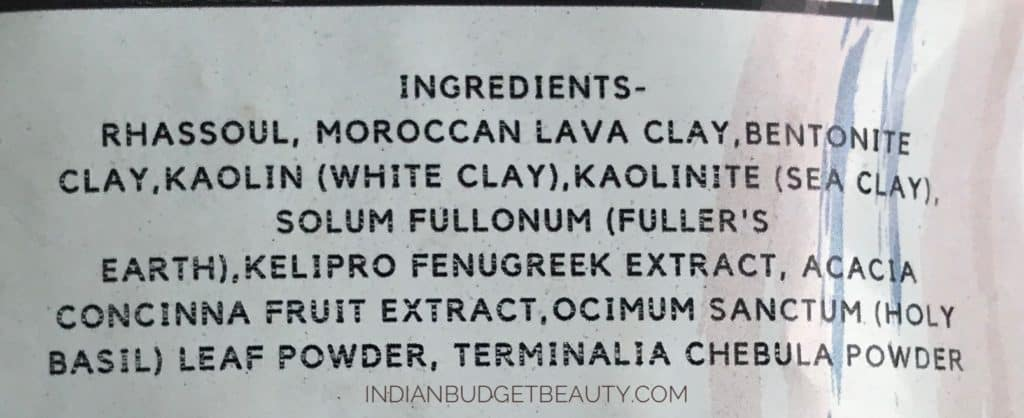 Skinish Five Clay Hair Mask ingredients