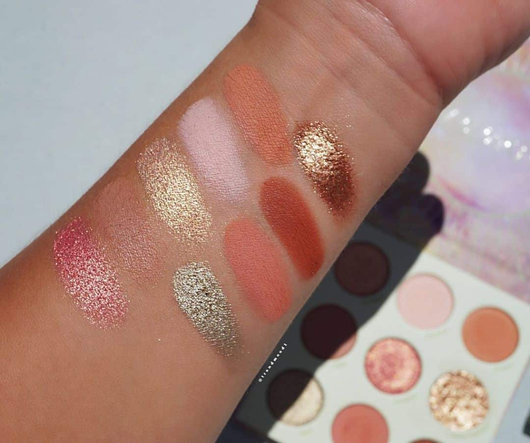 ColourPop Shes Got Solstice Collection eyeshadow palette swatches 2