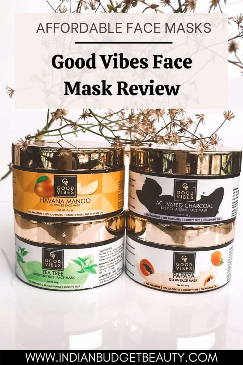 good vibes face mask review