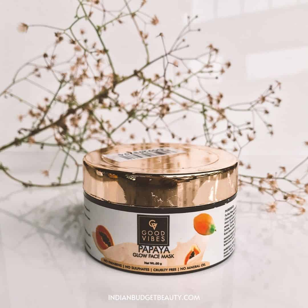 good vibes papaya face mask review