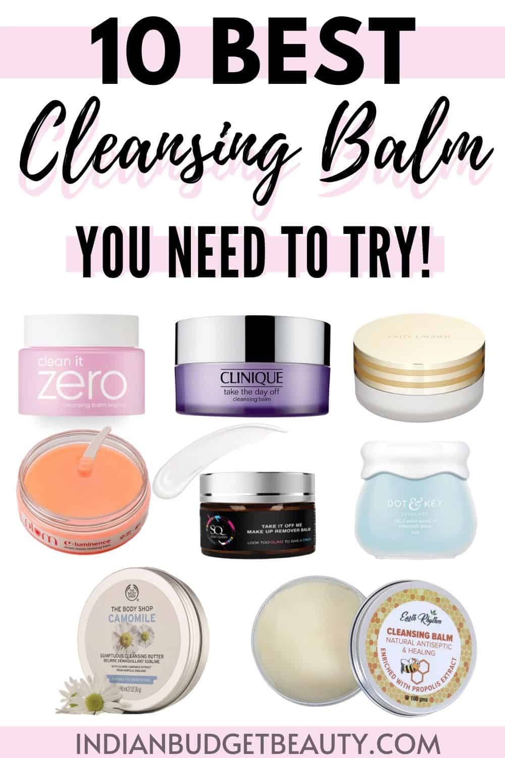 10 Best Cleansing Balm in India |  Best cleansing balm you need to try