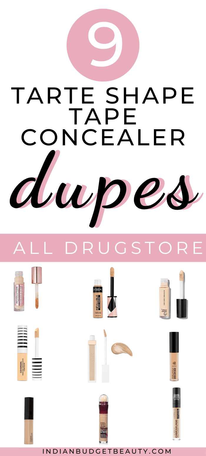tarte shape tape concealer dupes