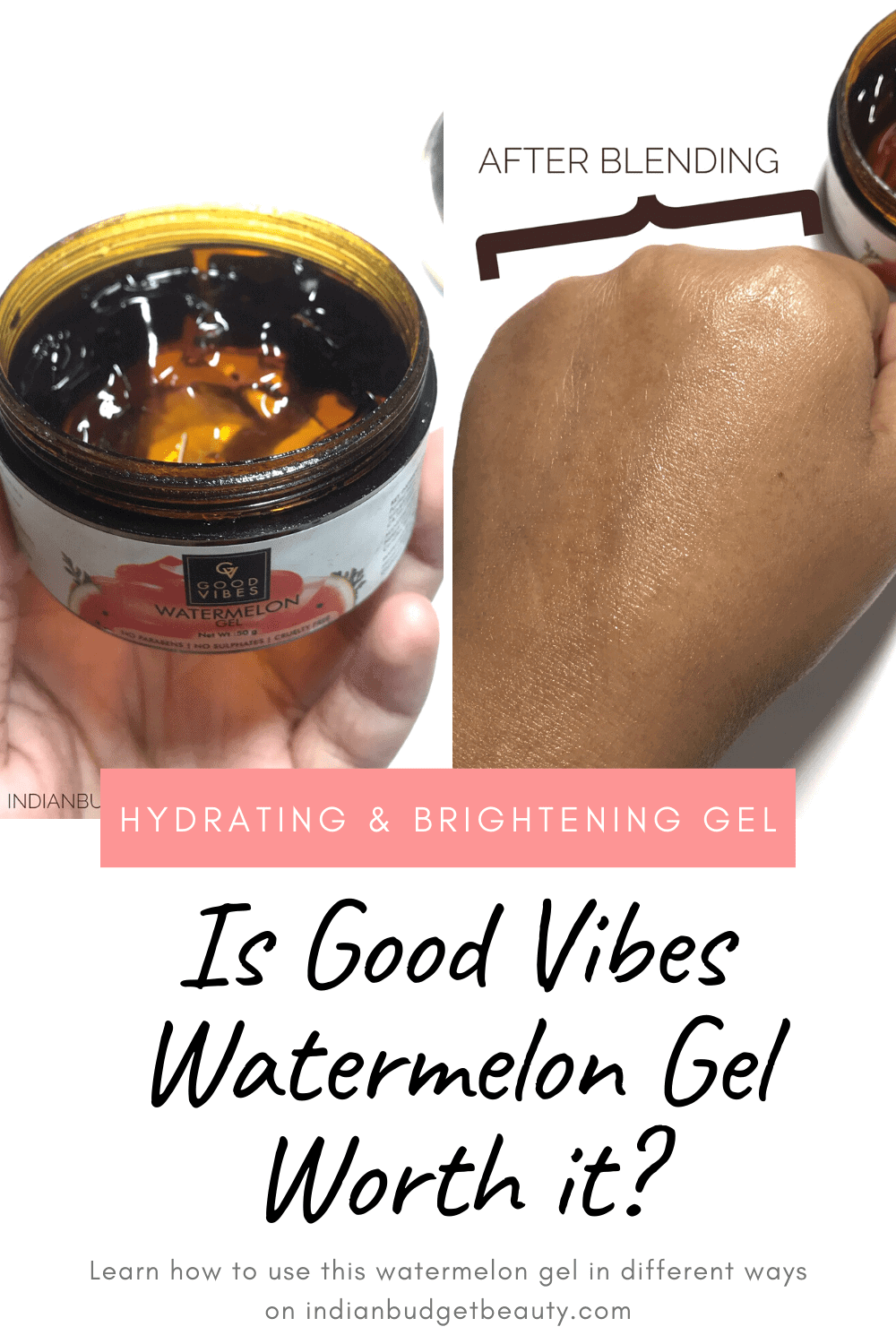 good vibes watermelon gel reviews