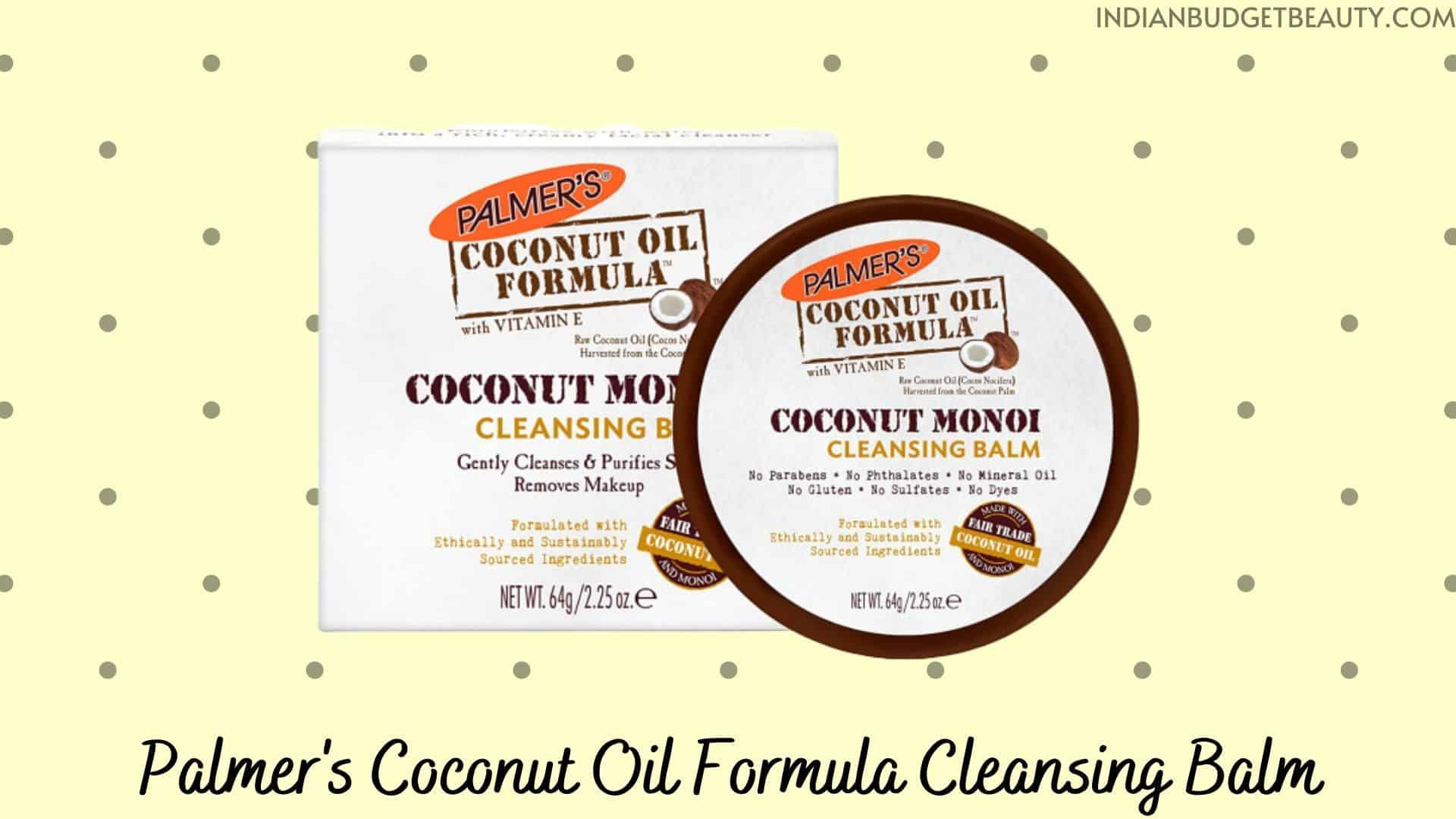 Palmer's Coconut Oil Formula Cleansing Balm  | best cleansing balm in india