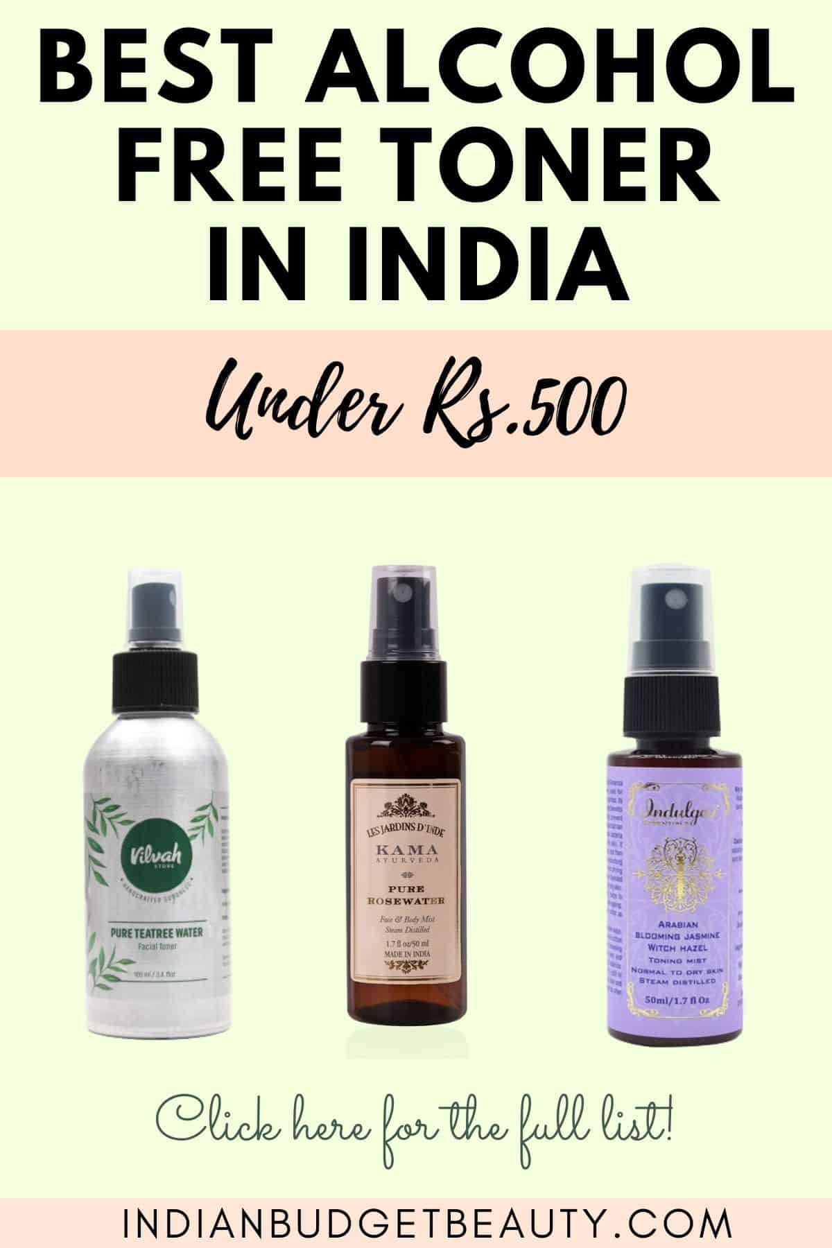 best alcohol free toner in india under Rs.500