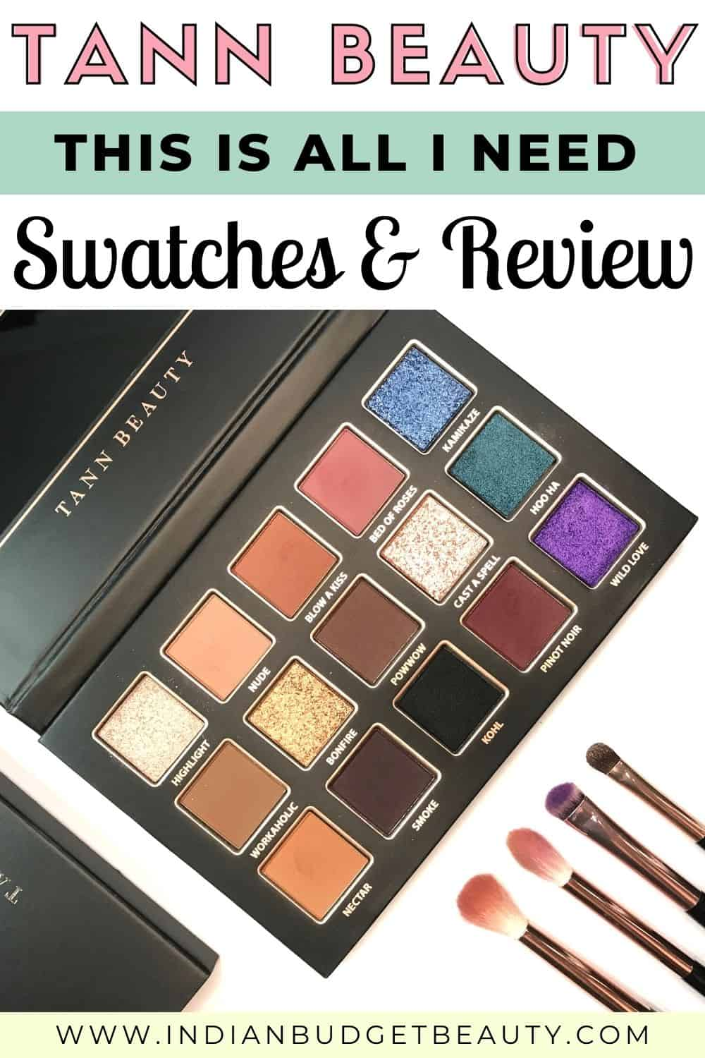 tann beauty this is all i need eyeshadow palette review