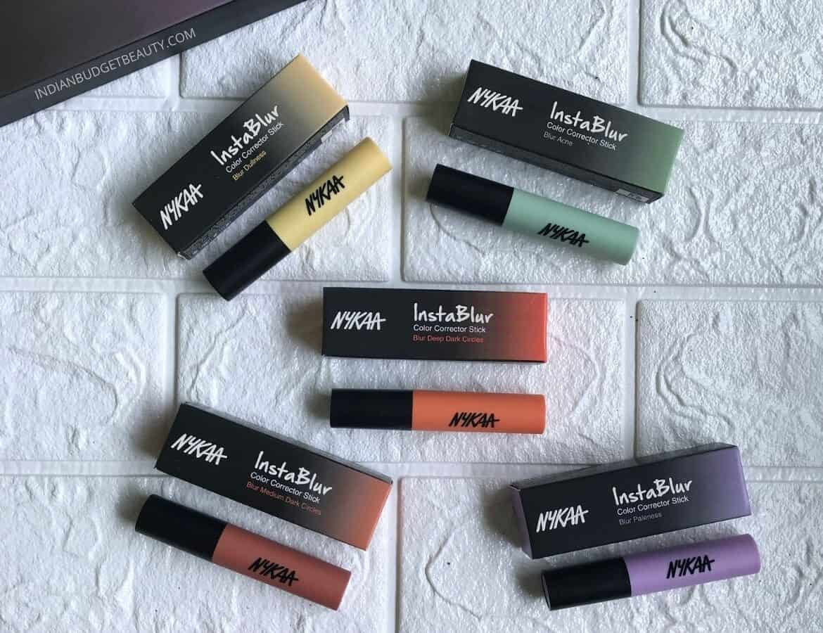 nykaa instablur color corrector stick review