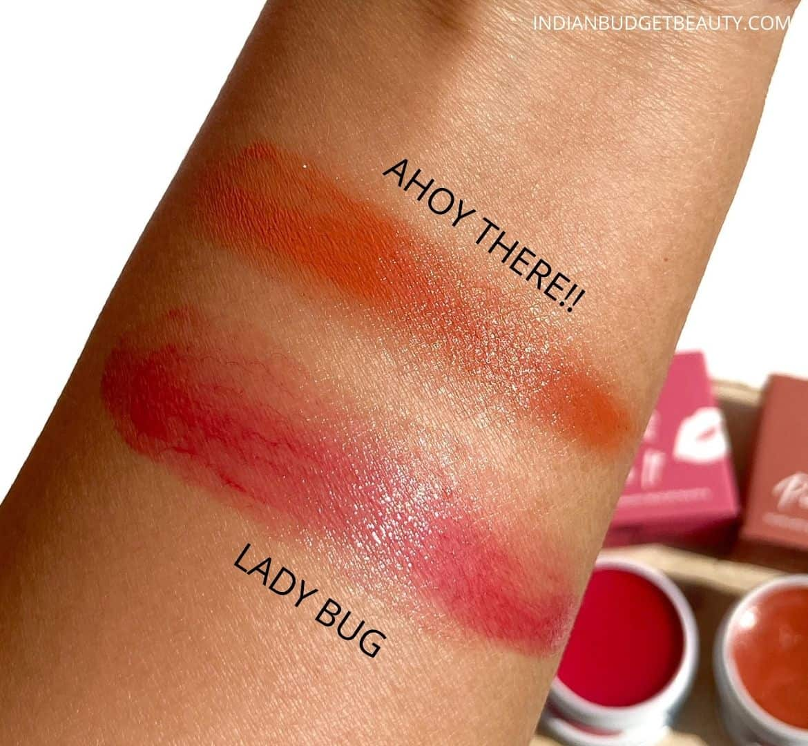Earth Rhythm Tinted Lippie SPF 30 lady bug, ahoy there Swatches
