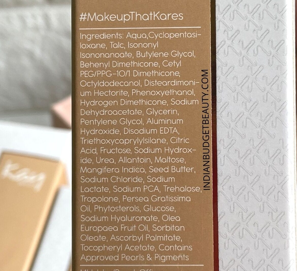 Kay Beauty Hydrating Foundation Ingredients