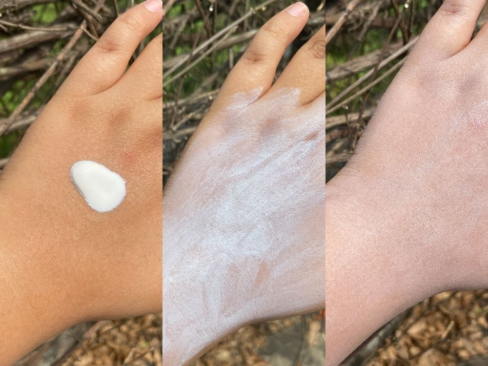 Dr Sheth's Oat And Zinc Mineral Sunscreen Application