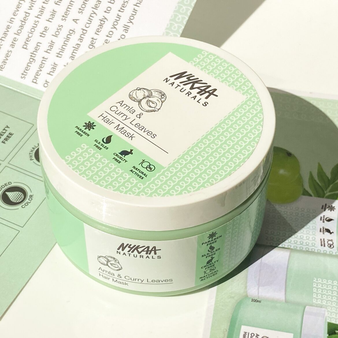 Nykaa Naturals Amla and Curry Leaves Hair Mask Review