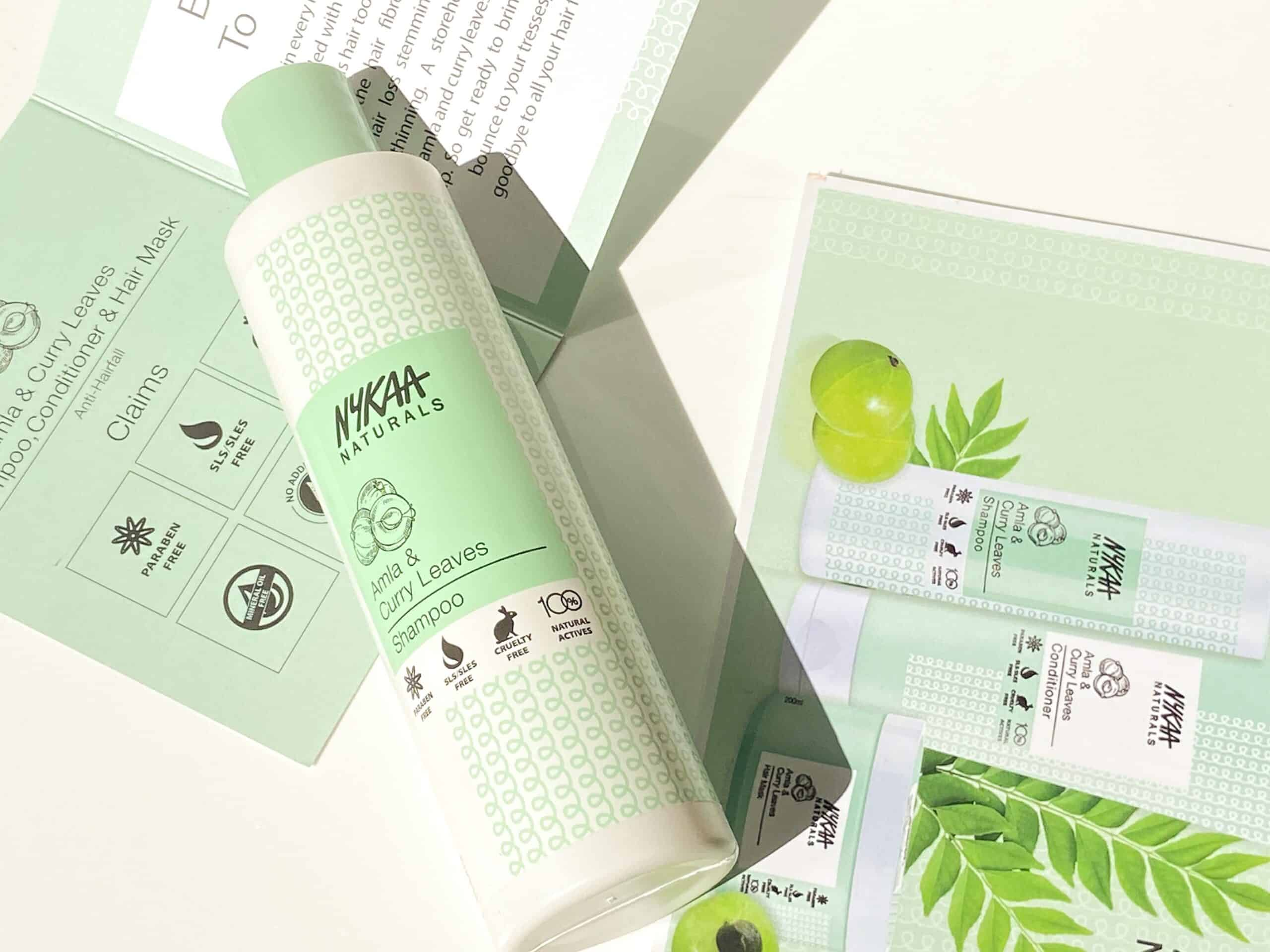 Nykaa Naturals Amla and Curry Leaves Shampoo Review